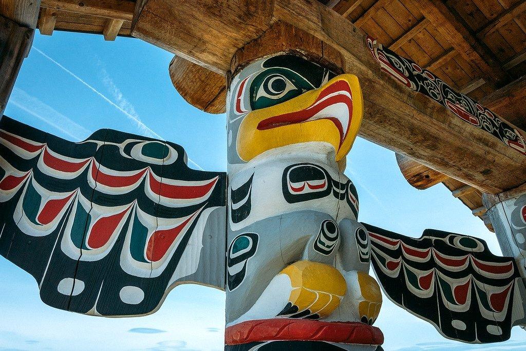 Totem Pole on Quadra Island