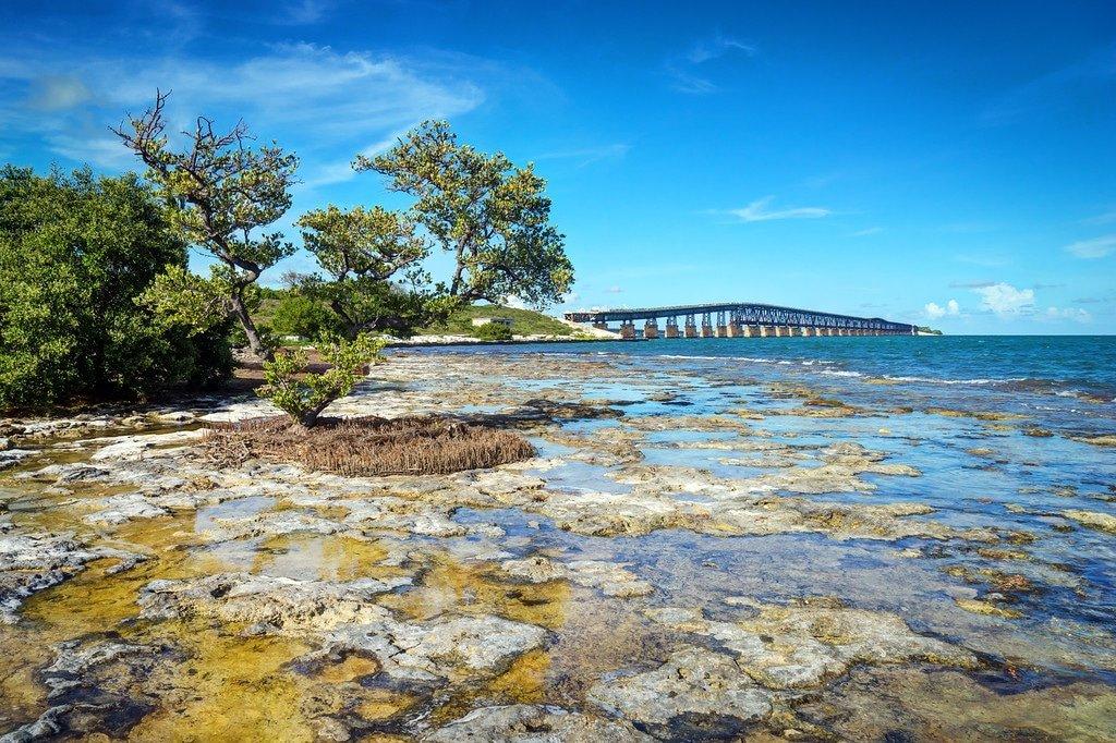 Abandoned Railroad Bridge in the Florida Keys