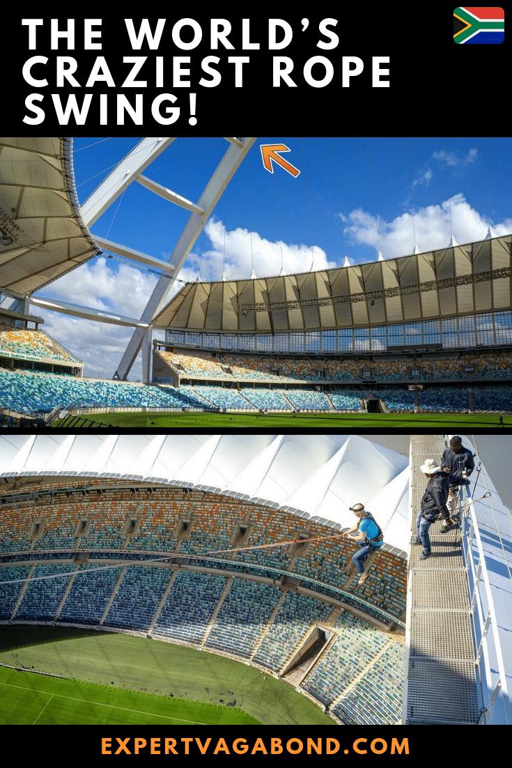 Durban's Big Rush: The World's Craziest Rope Swing! More at ExpertVagabond.com