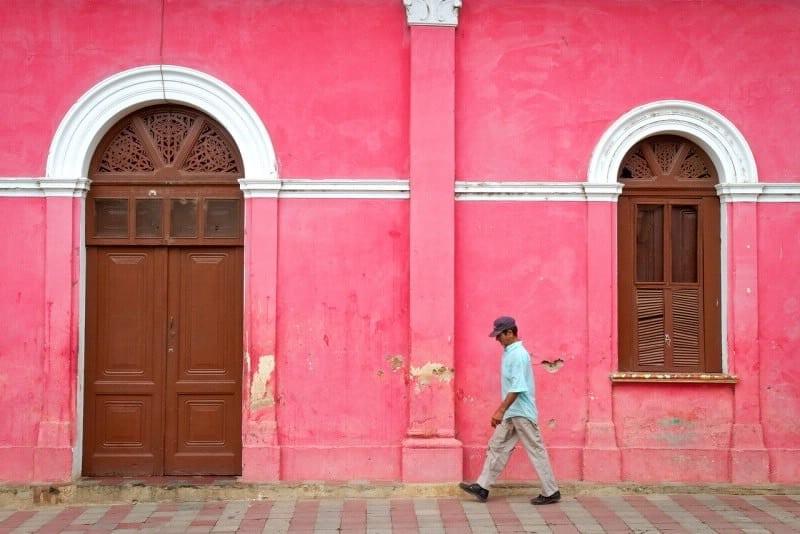 granada buildings pink