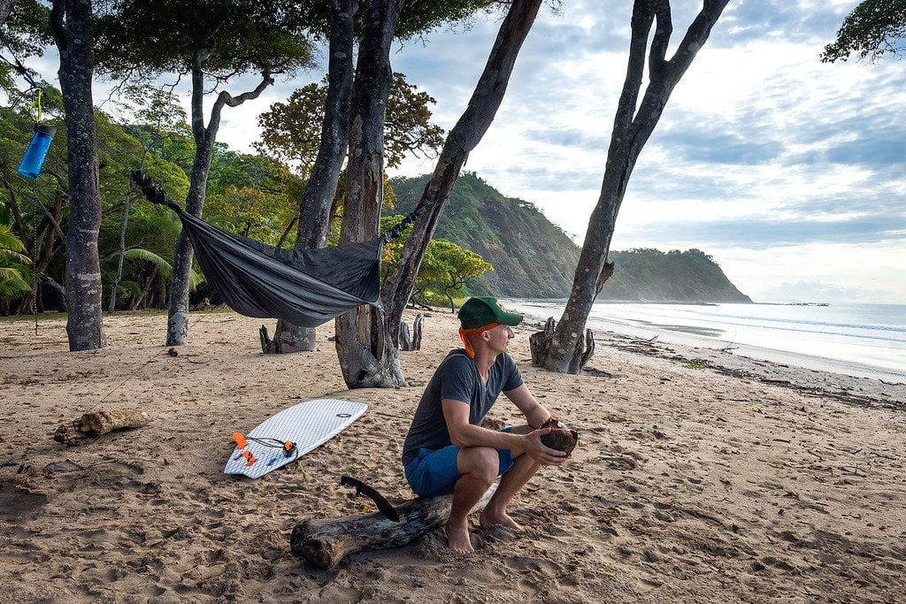 Hammock Camping on a Beach