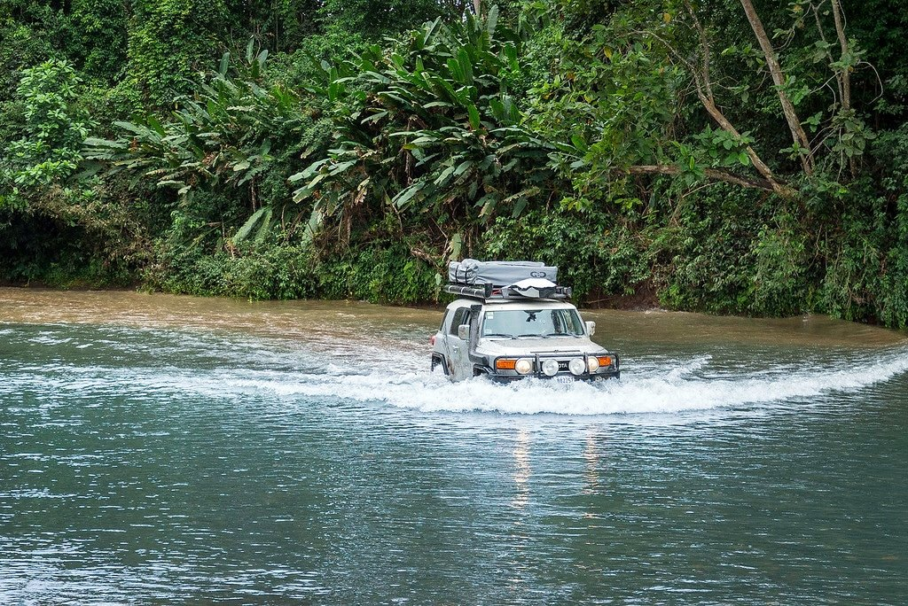 River crossing in Costa Rica