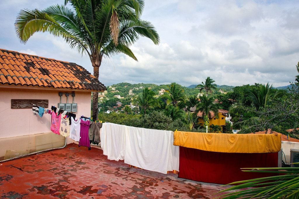 Line Dry Laundry in Mexico