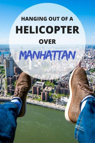 Hanging out of a helicopter over Manhattan. #Newyork #NYC #Helicopter