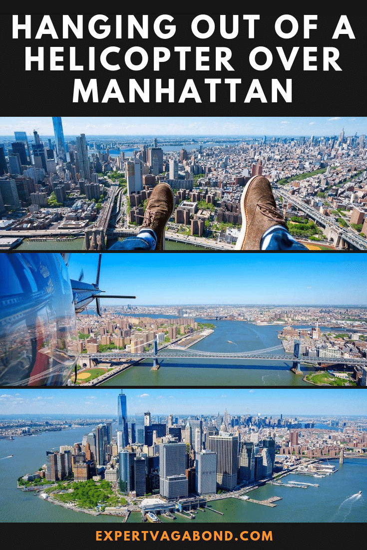 Hanging Out Of A Helicopter Over Manhattan. More at ExpertVagabond.com