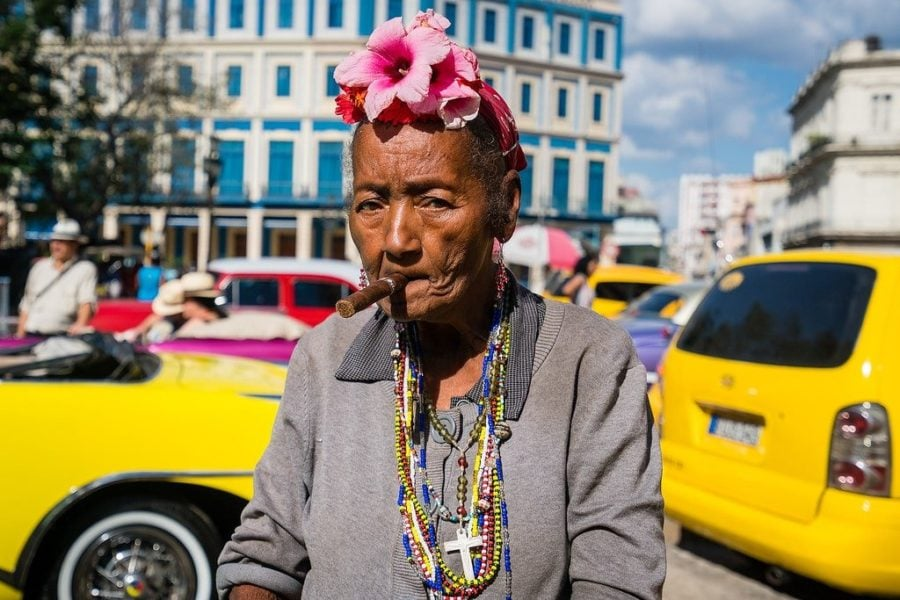Lady with Cigar in Havana
