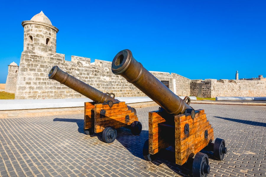 Havana Cannon Shot at Fort San Carlos