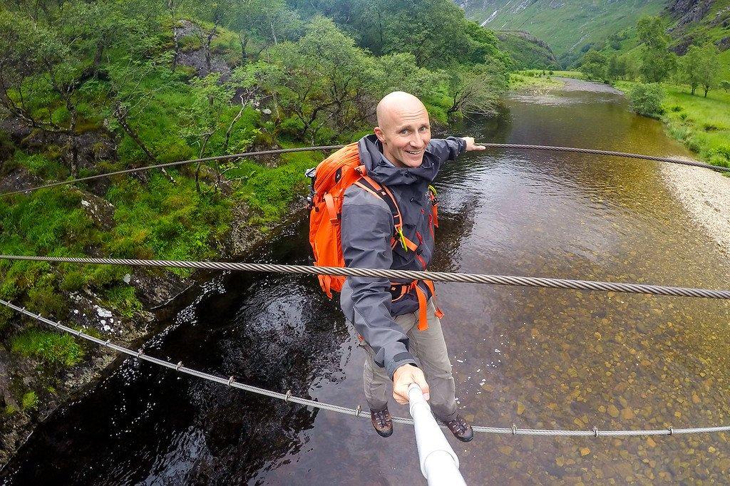 Wire Bridge in the Highlands