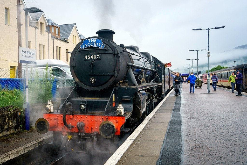 Train in Scottish Highlands