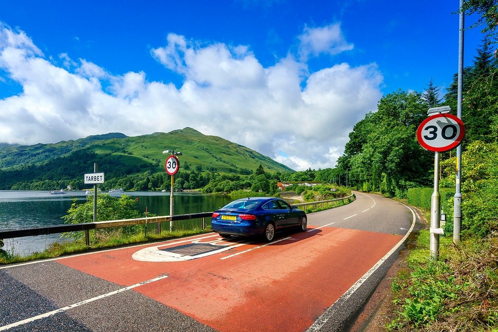 Driving the Highlands of Scotland