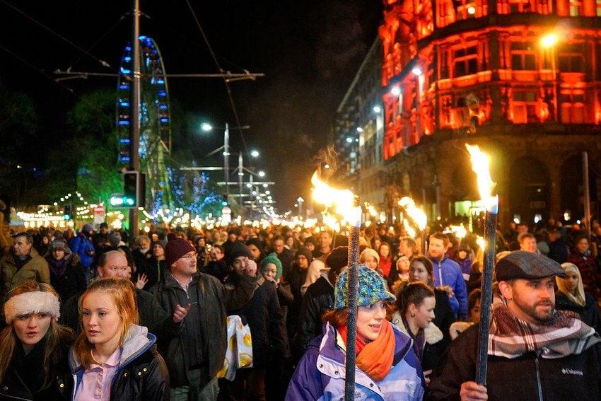 Torchlight Procession Edinburgh