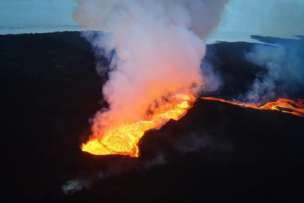 Erupting Volcano Iceland