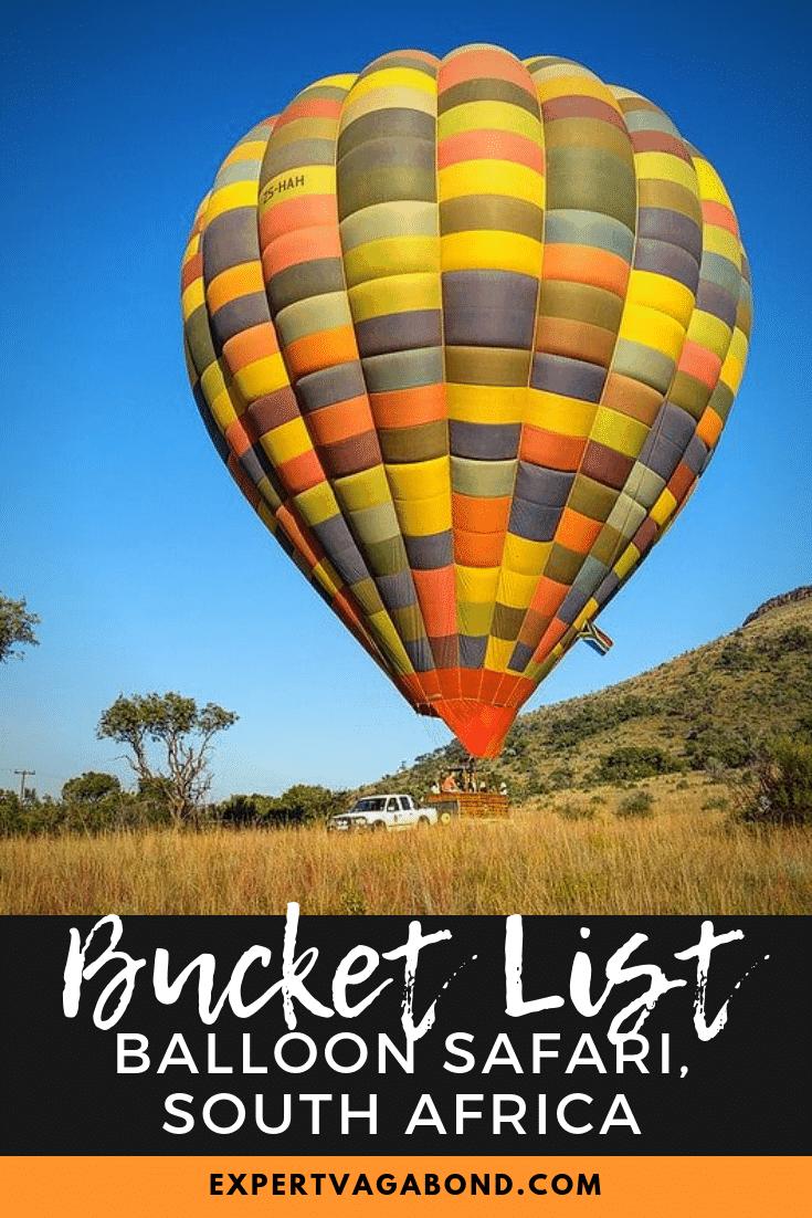 Balloon Safari: Rising With The Sun Over South Africa! More at ExpertVagabond.com