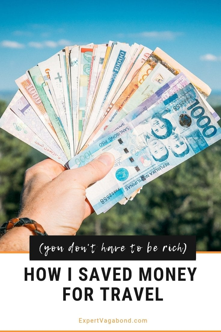 How To Save Money For Travel. More at ExpertVagabond.com