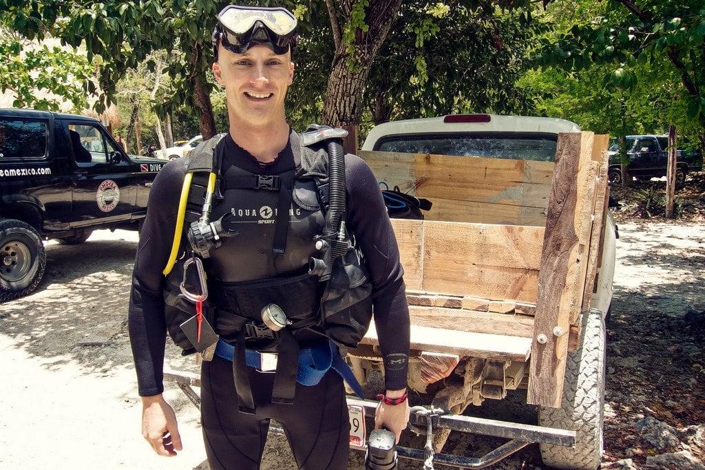 Cenote Scuba Diving Yucatan Mexico