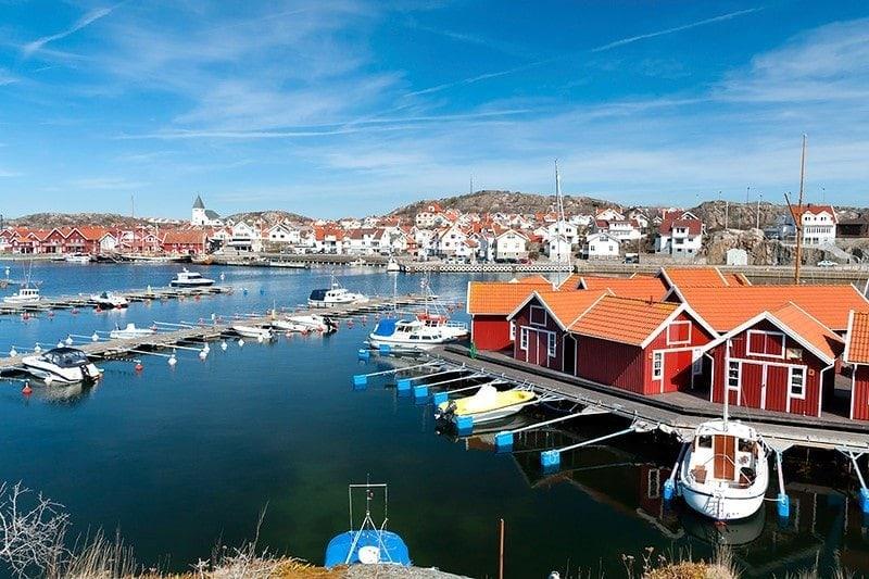 picturesque costal village