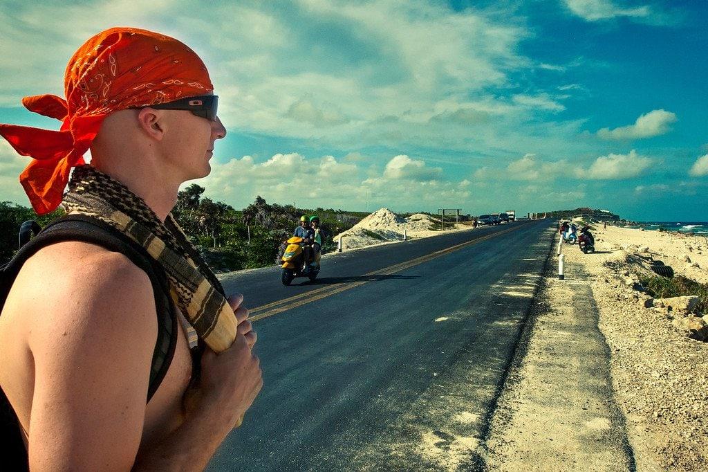 Hitchhiking Isla Cozumel