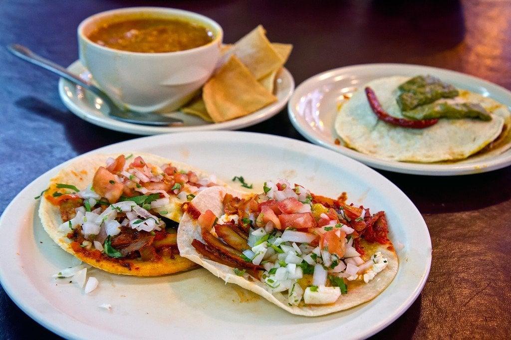 Tacos al Pastor Yucatan Mexico