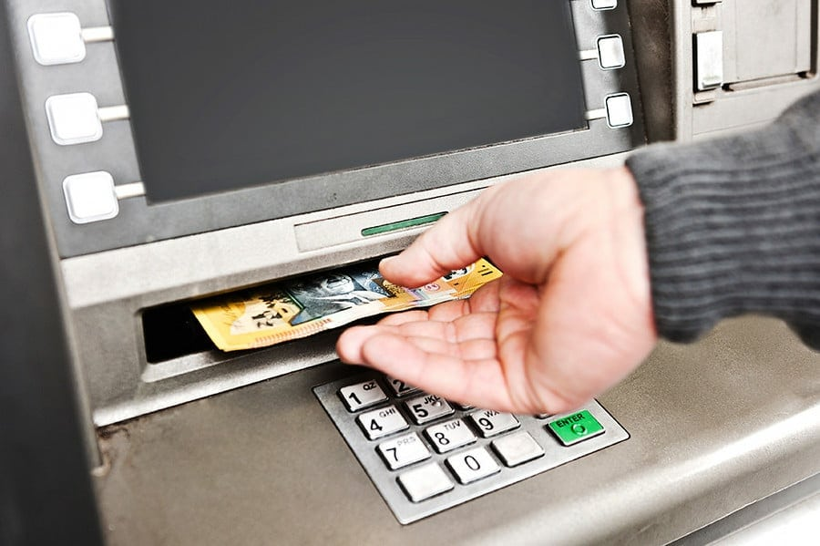 cash machine and foreign money
