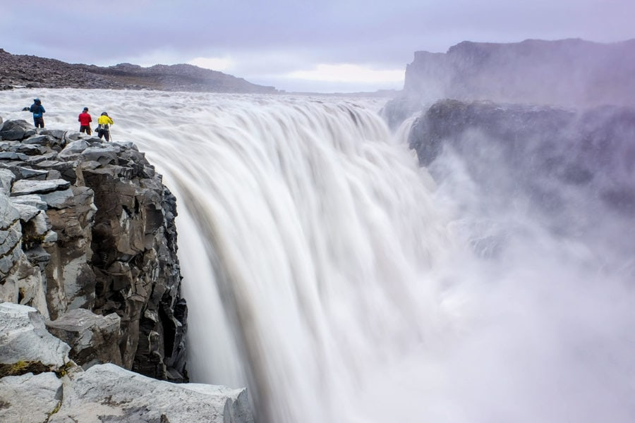 Powerful Dettifoss Waterfall