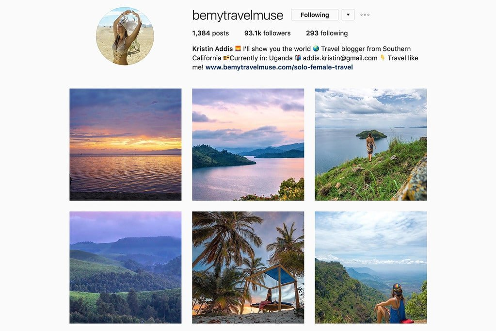 Travel with Kristin on Instagram