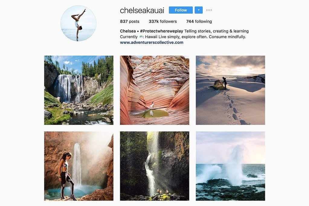 Travel with Chelsea on Instagram