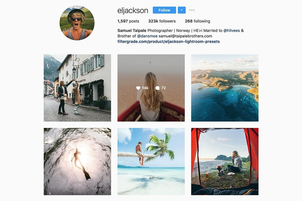 Travel with Sam on Instagram