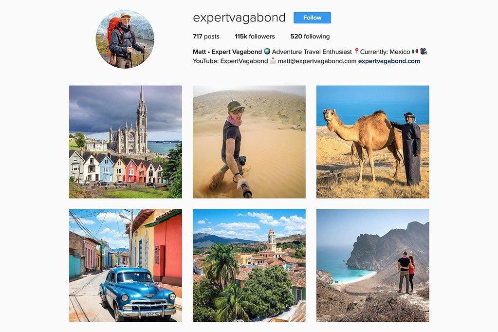 Travel with Matt on Instagram