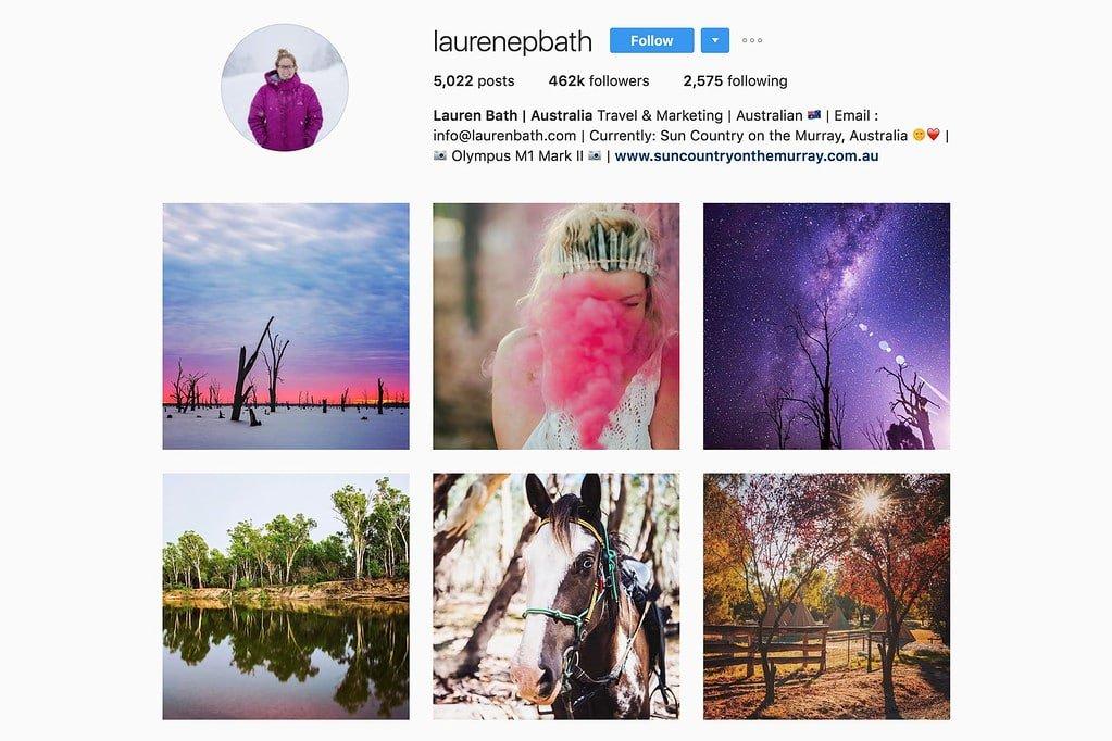 Travel with Lauren on Instagram