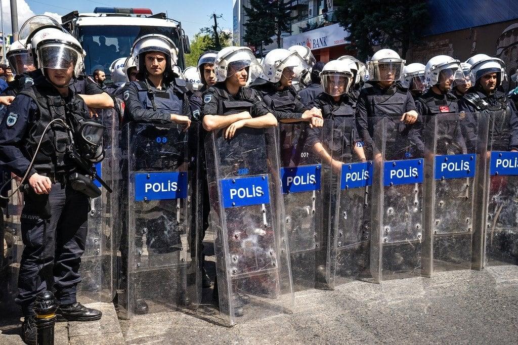 Riot Police Istanbul Turkey
