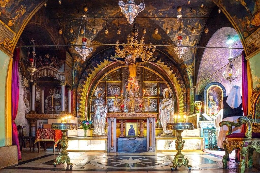 Crucifixion Altar Jerusalem