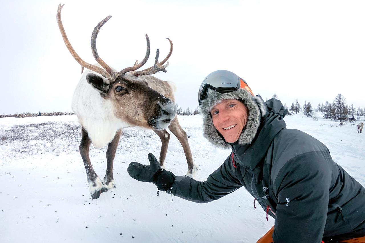 Reindeer Selfie in Russia