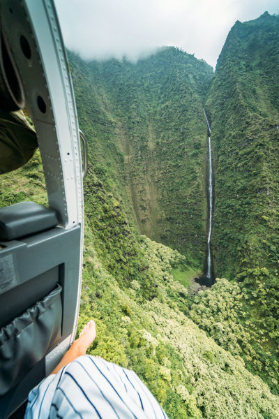 Flying Past Waterfalls
