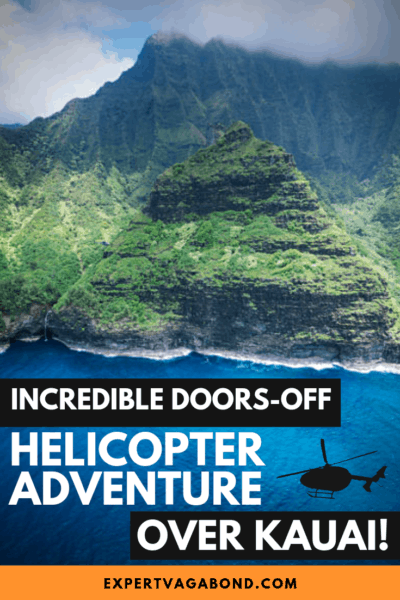 Don't visit Kauai without going on a helicopter tour of the Na Pali coast! Here are some tips for having a great experience. #Kauai #Hawaii #Photography