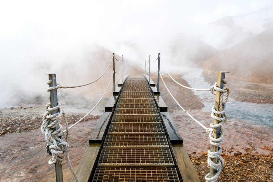 Walking Into the Geothermal Steam