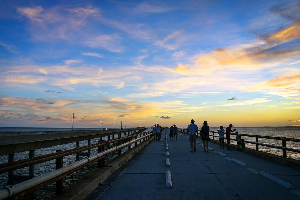 Colorful Sunset over Seven Mile Bridge