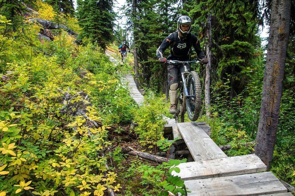 Wooden Platforms Mountain Biking