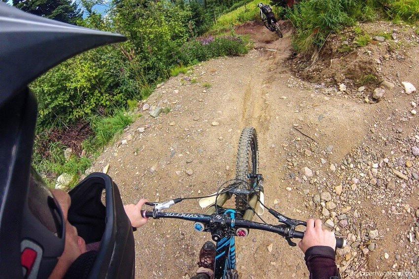 kicking horse downhill biking