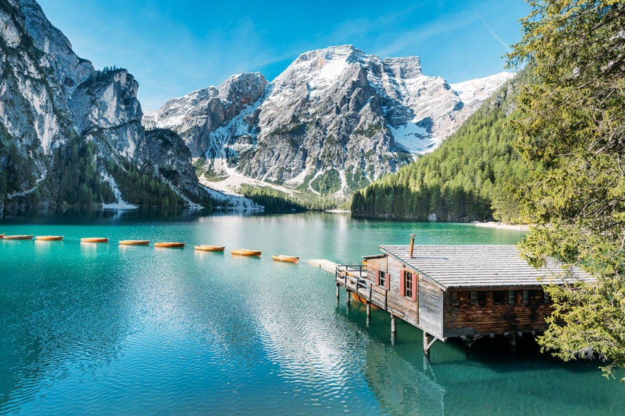 Lago Di Braies in Italy