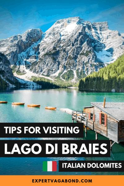 Tips For Visiting Beautiful Lago Di Braies! #Italian #Dolomites