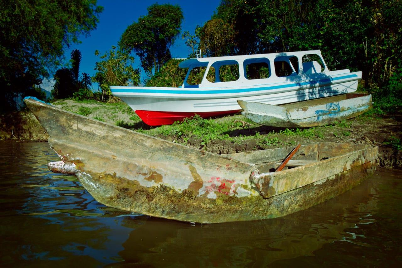 Wooden Mayan Canoe