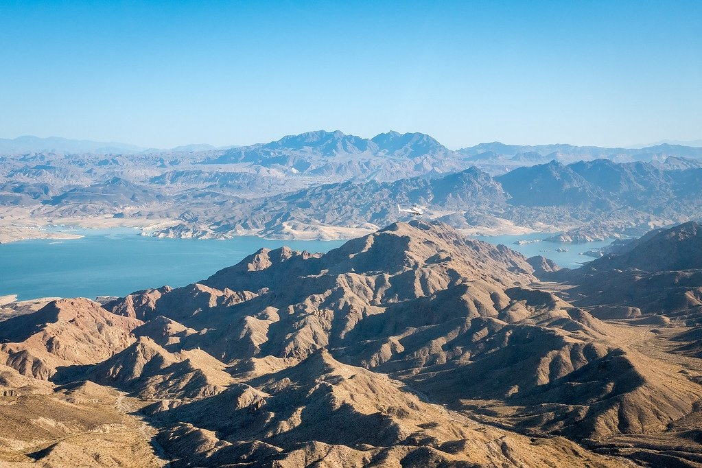 Flying by Lake Mead