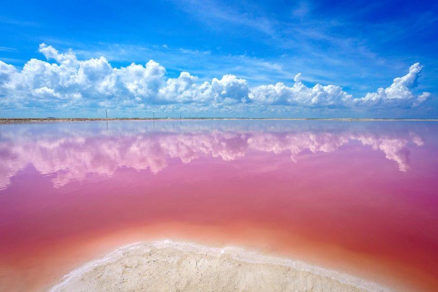 Las Coloradas in the Yucatan Peninsula