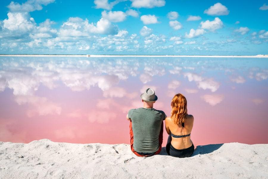 Las Coloradas Pink Lakes