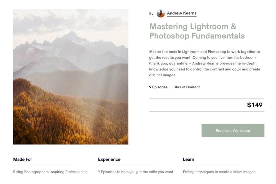 Online Lightroom & Photoshop Class