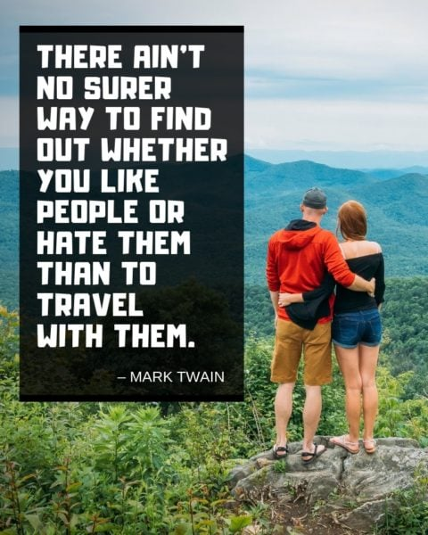 Mark Twain Travelling Quote
