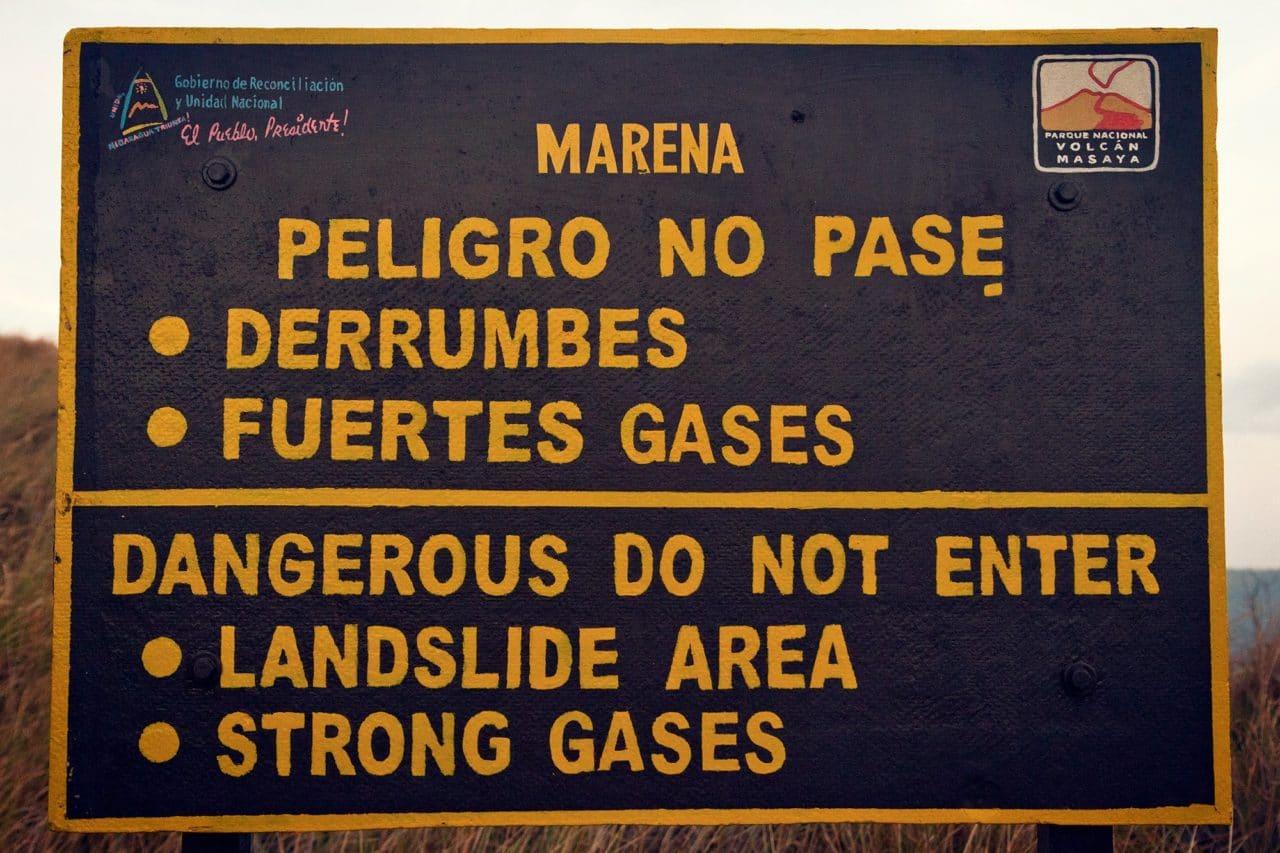 Masaya Nicaragua Volcano Sulfur Gas
