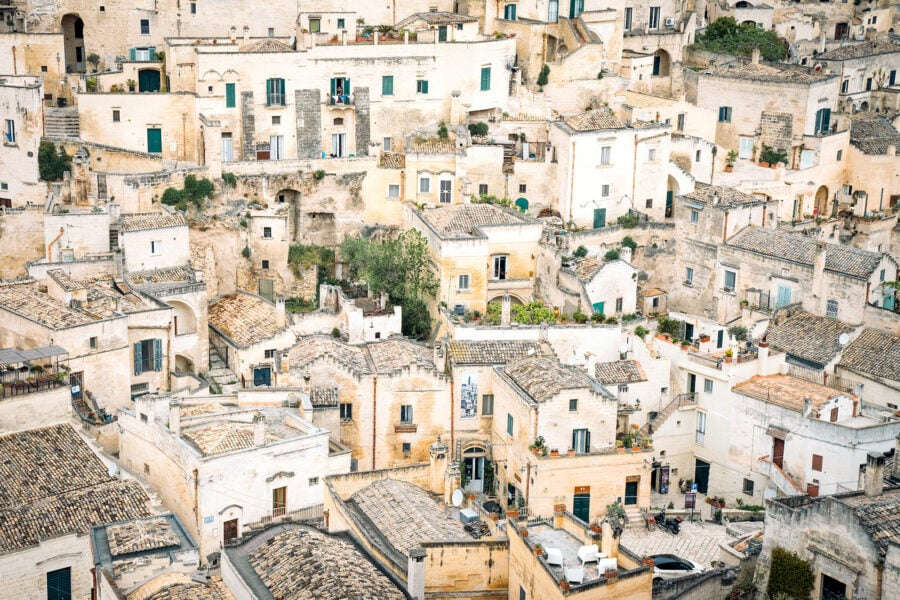 Viviendas cueva de Matera
