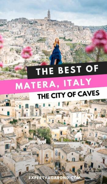Aprenda qué hacer en Matera, Italia, durante su visita a la ciudad de las cuevas.  #Consejos de viaje #Matera #Italia #Viajes