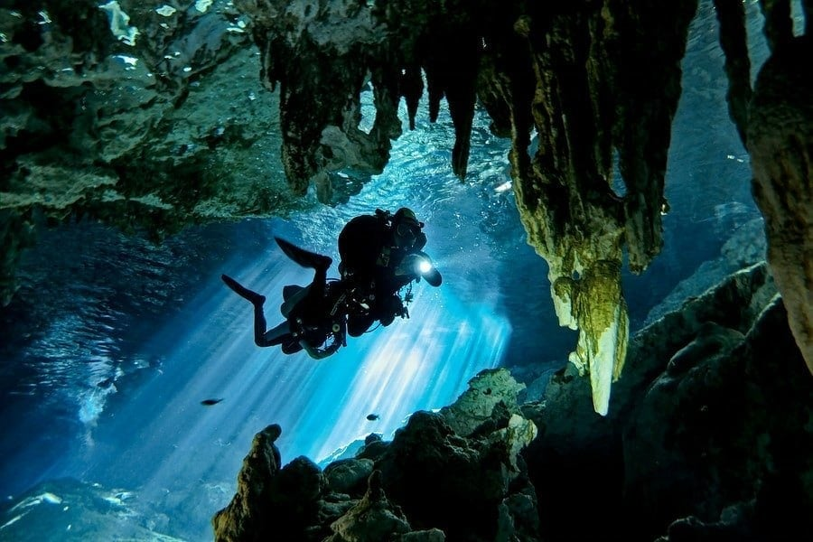 mexico cavern diving dos ojos